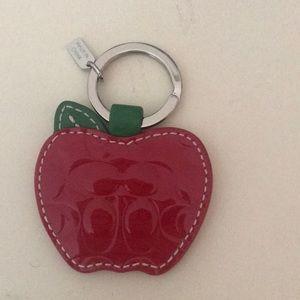 NWOT Coach Apple keychain